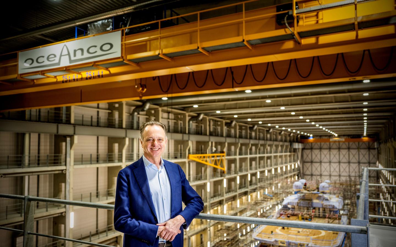 Jachtbouwer Oceanco - Hein Velema op de werf, over duurzaamheid in de jachtbouw. Foto: Frank de Roo