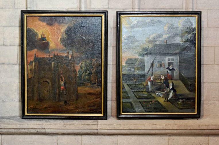 Twee mirakelschilderijen zijn teruggekeerd naar de Sint-Martinusbasiliek in Halle.