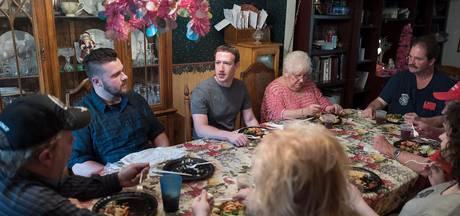 Surprise! Amerikaans gezin krijgt onverwacht Mark Zuckerberg te eten