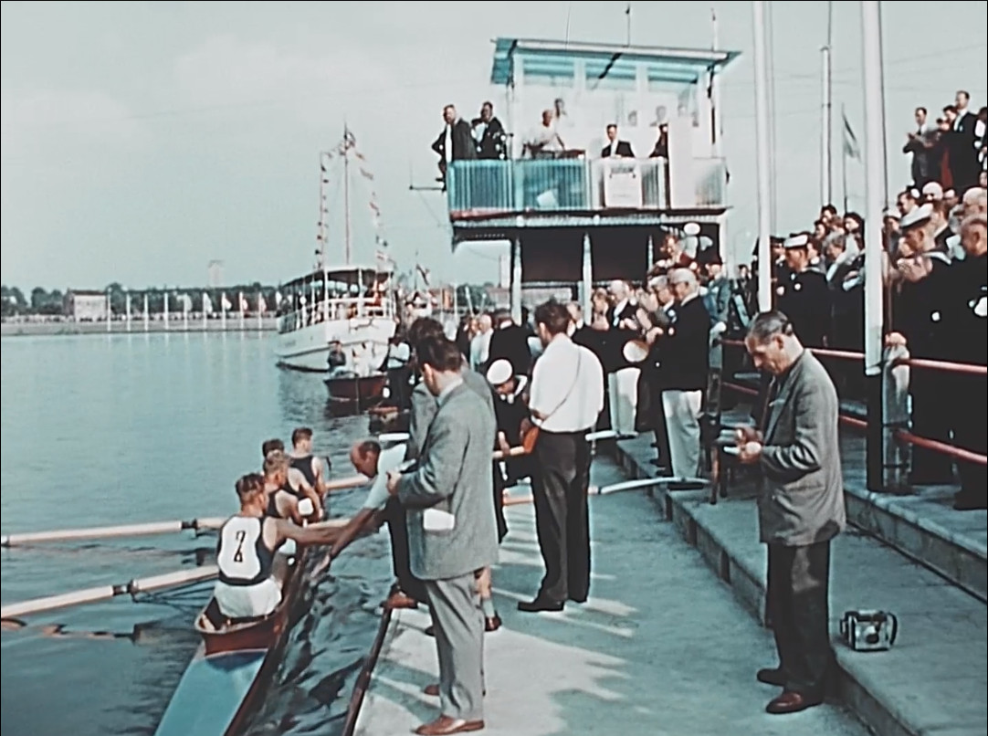 Het Europees kampioenschap roeien in 1955.