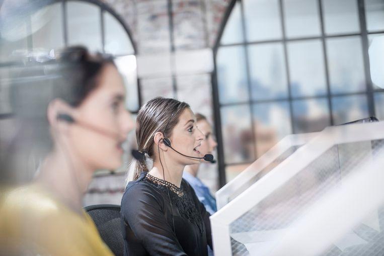 In 2020 verdriedubbelde het aantal klachten over callcenters.  Beeld Hollandse Hoogte / Image Source