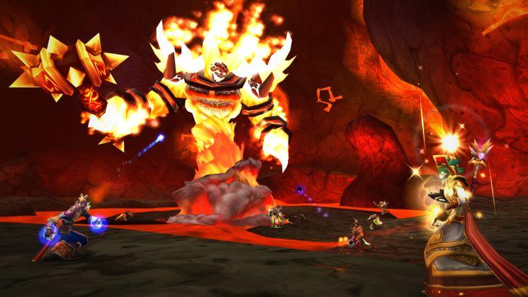 Een met tientallen spelers tegelijkertijd aangevatte 'raid' in actie. Beeld Blizzard Entertainment