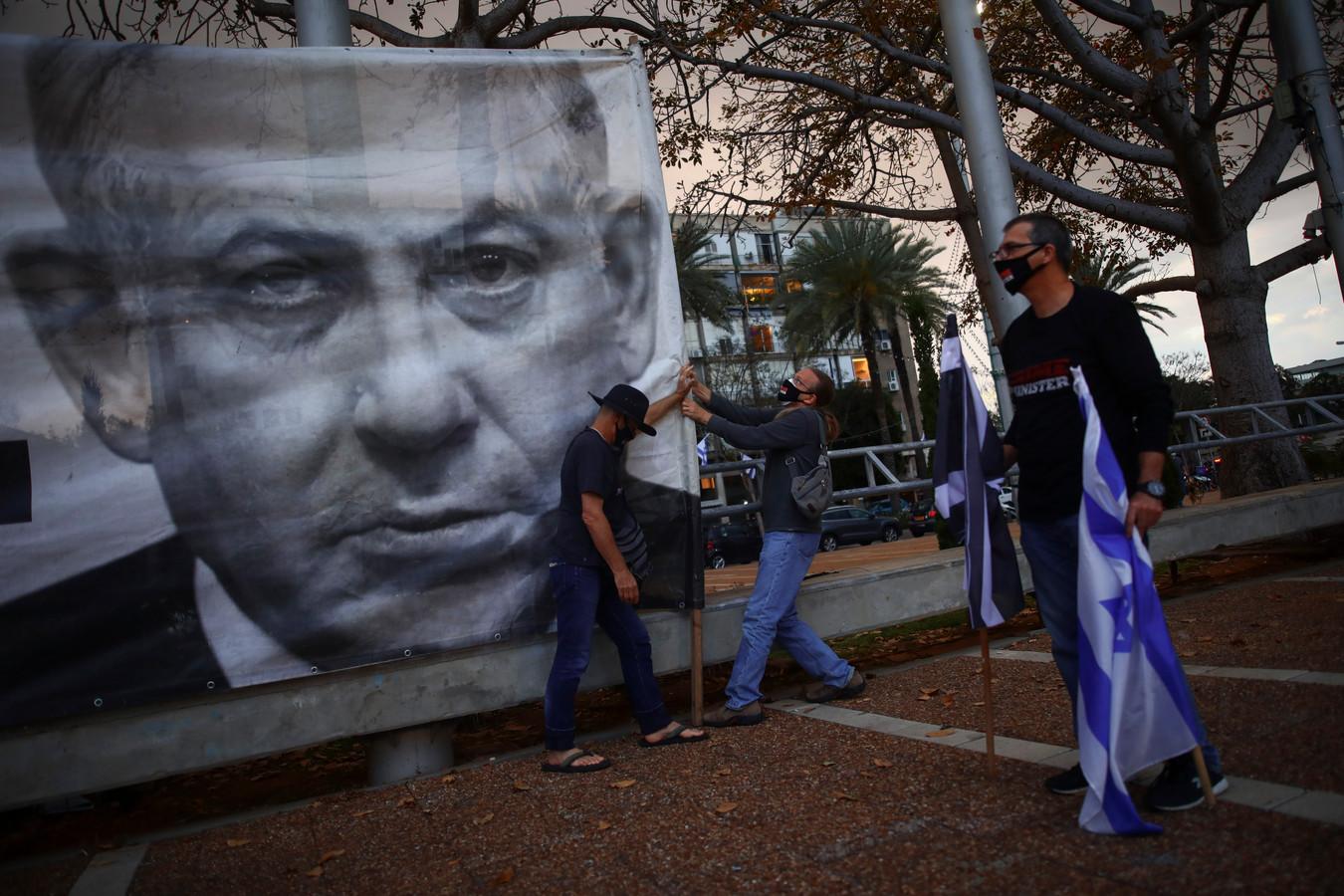 Een affiche van Netanyahu