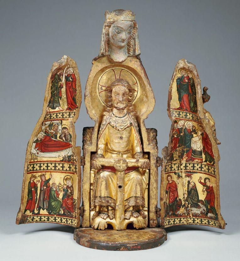 Schrijn-madonna, 1300. Beeld MET Museum