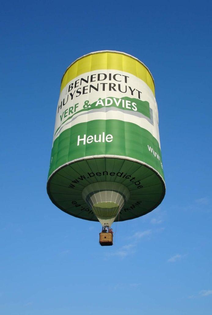 Wie een steunkaart van 10 euro koopt bij Alexine, maakt kans op een gratis ballonvaart in deze warmeluchtballon.
