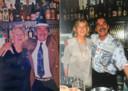 Coby en Gijs Tijssen tijdens enkele van de vele feesten in hun café. ,,Met Gijs was het altijd gezellig en hij kon iedereen opvrolijken.''