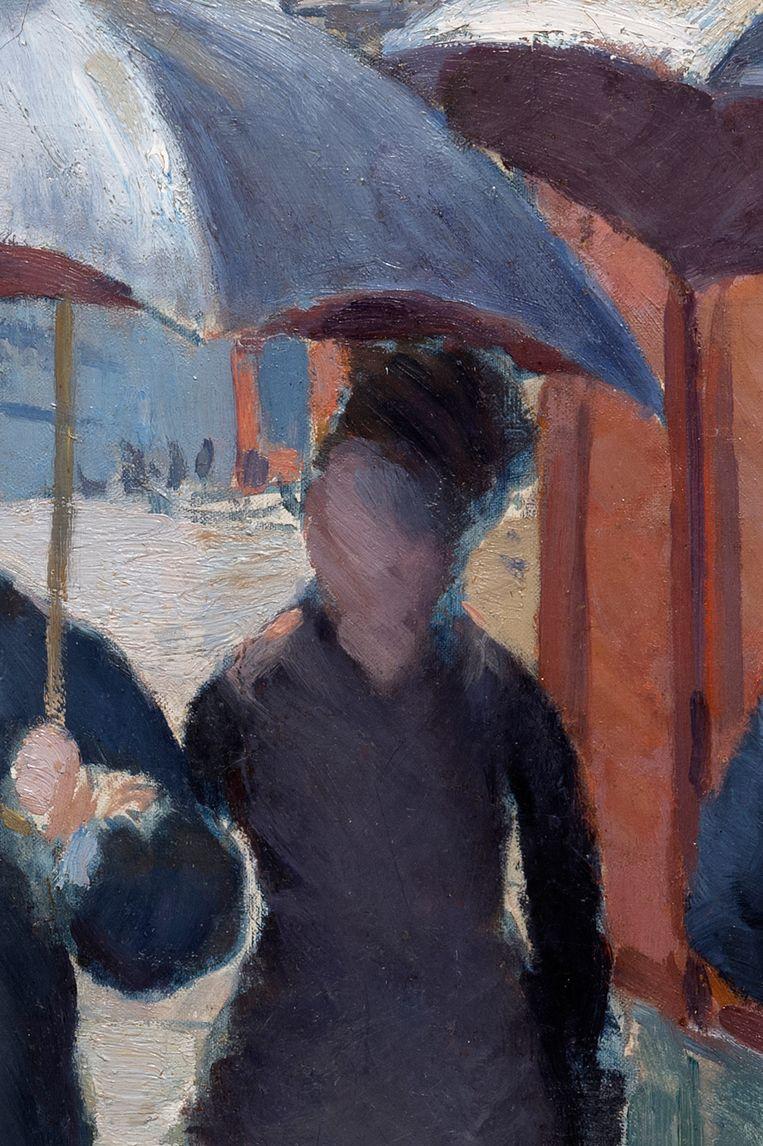 Detail uit Rue de Paris, temps de pluie. Beeld Christian Baraja