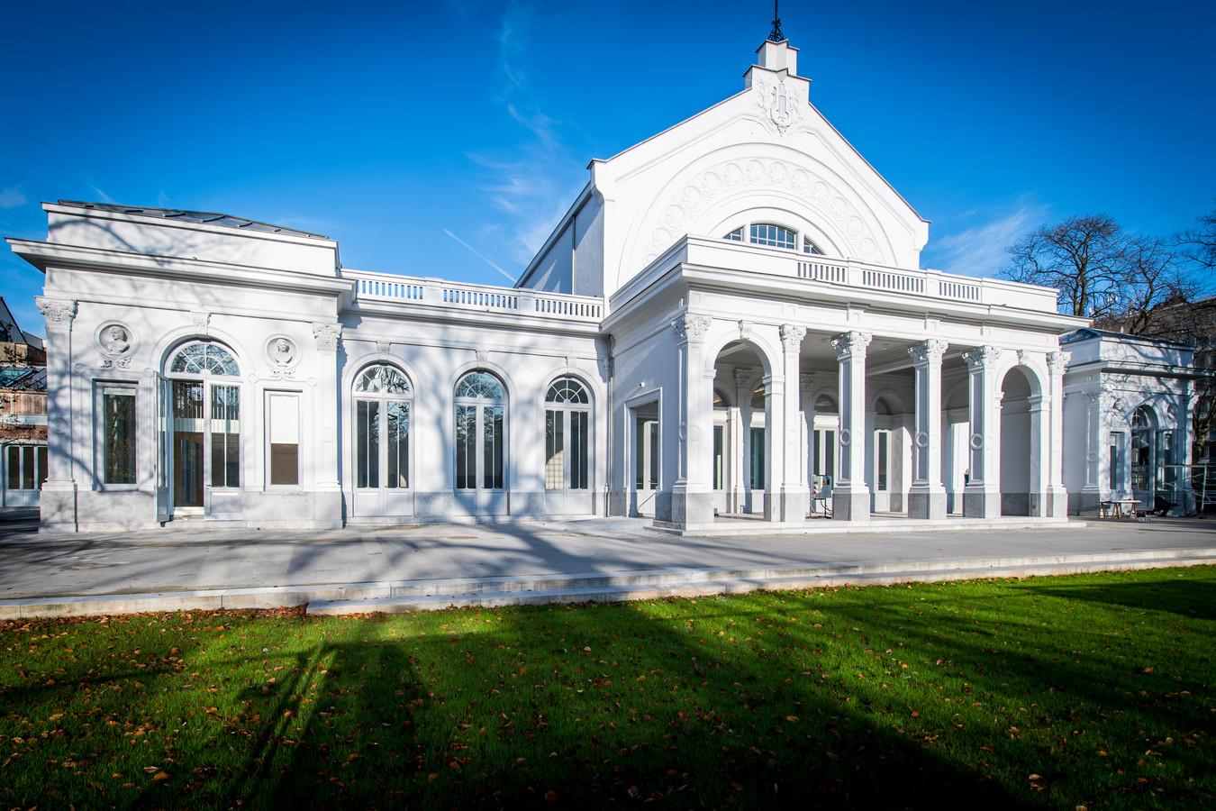 Het nieuwe districtshuis in het Harmoniepark.