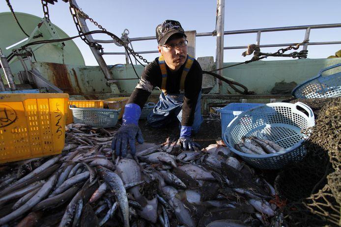 Een visser in Japan. De visserij dreigt een zaak van het verleden te worden.