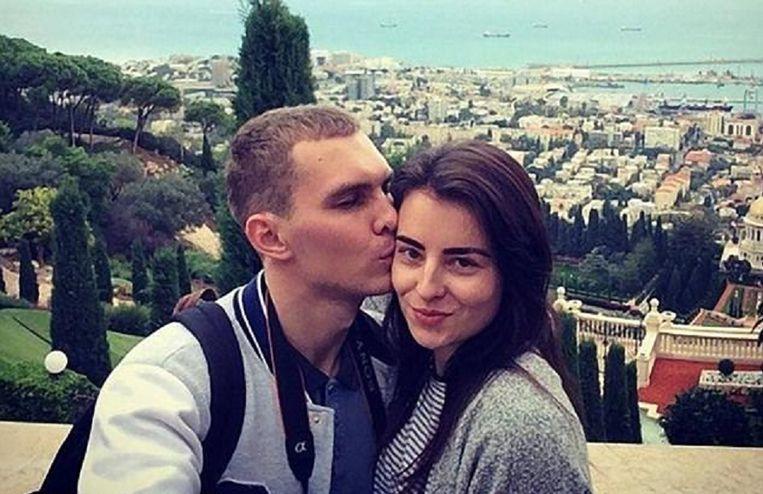 Oksana met haar echtgenoot Alexander.