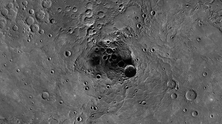 De noordpool van Mercurius. Beeld afp