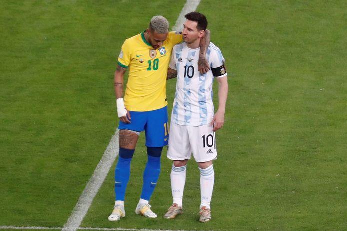 Neymar en Messi: hier tijdens de finale van de Copa America, weldra herenigd in Parijs?