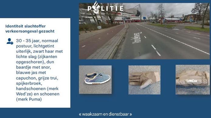 Het signalement van het slachtoffer dat zwaargewond raakte op de Volderweg in Eindhoven.