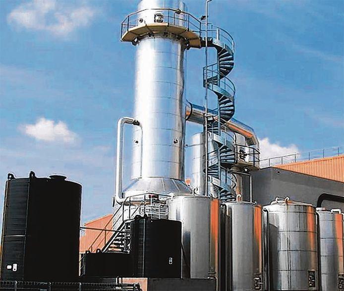 De mestfabriek in Venhorst.
