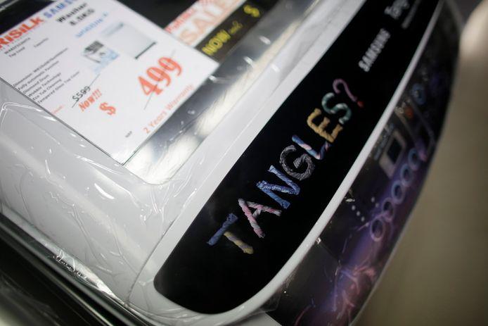 De importheffingen op Amerikaanse producten komt als tegenreactie op de tarieven op  onader andere Koreaanse wasmachines.
