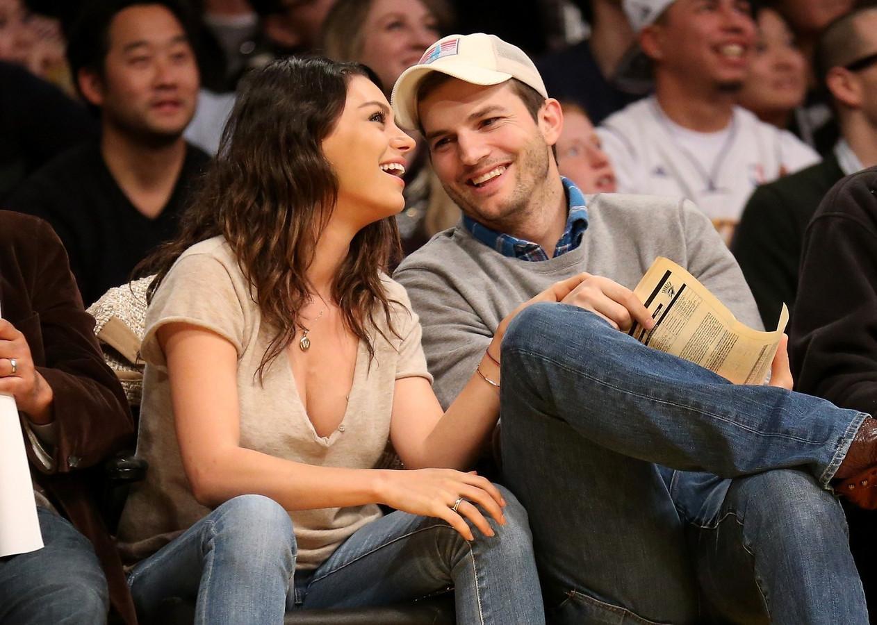 Ashton Kutcher et Mila Kunis.