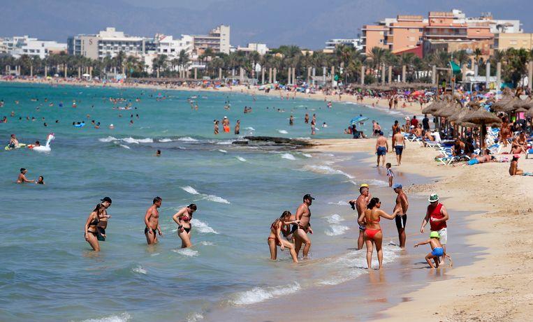 Palma de Mallorca, 15 augustus. Beeld Enrique Calvo / Reuters