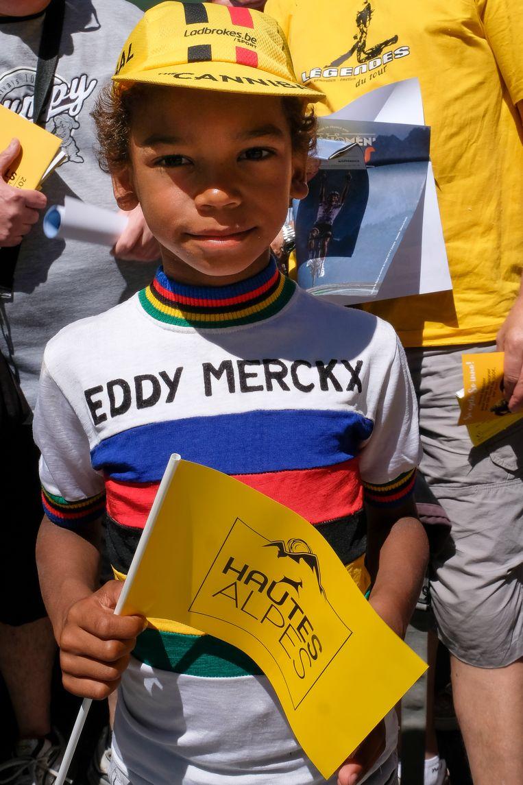 Ook de allerkleinsten zijn fan van Eddy Merckx.