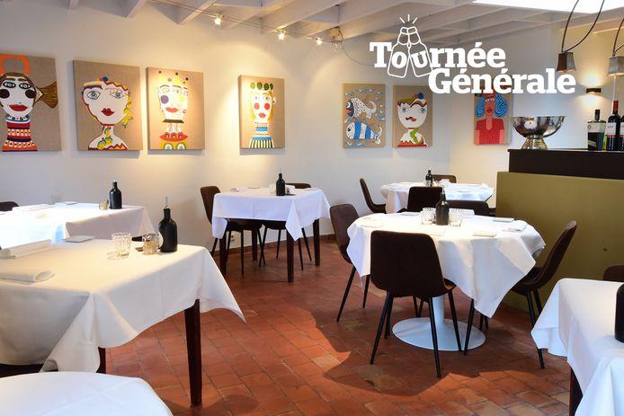 Het interieur van restaurant Bouffard in Mol.