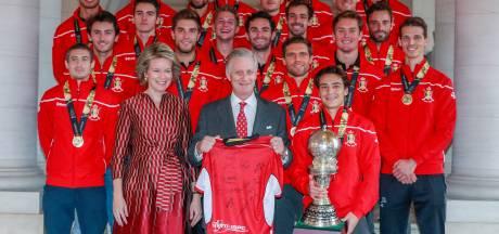 Koning Filip ontvangt Belgische hockeyers