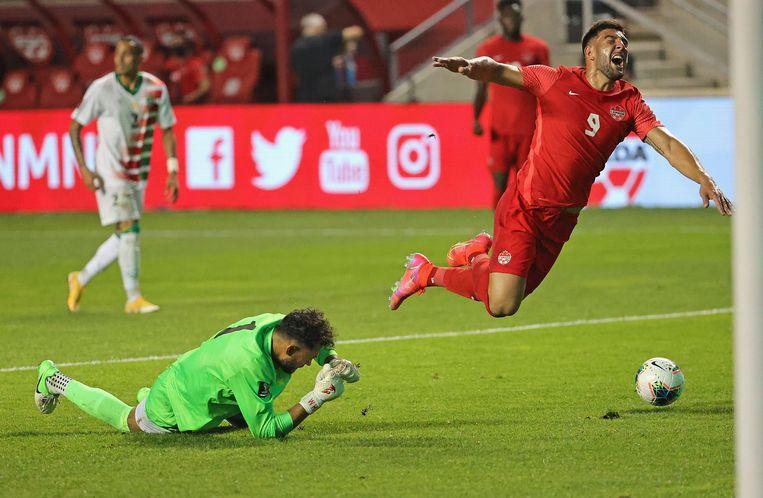 Suriname had moeten winnen om kans te blijven houden op plaatsing voor het WK van 2022 in Qatar. Beeld AFP