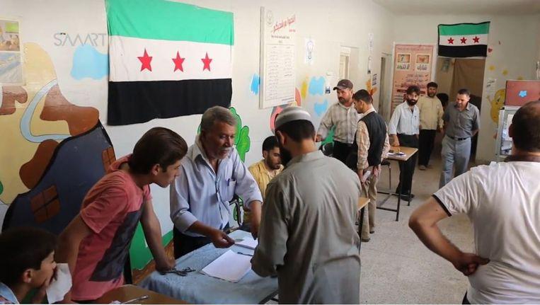 Syrische gemeenteraadsverkiezingen Beeld