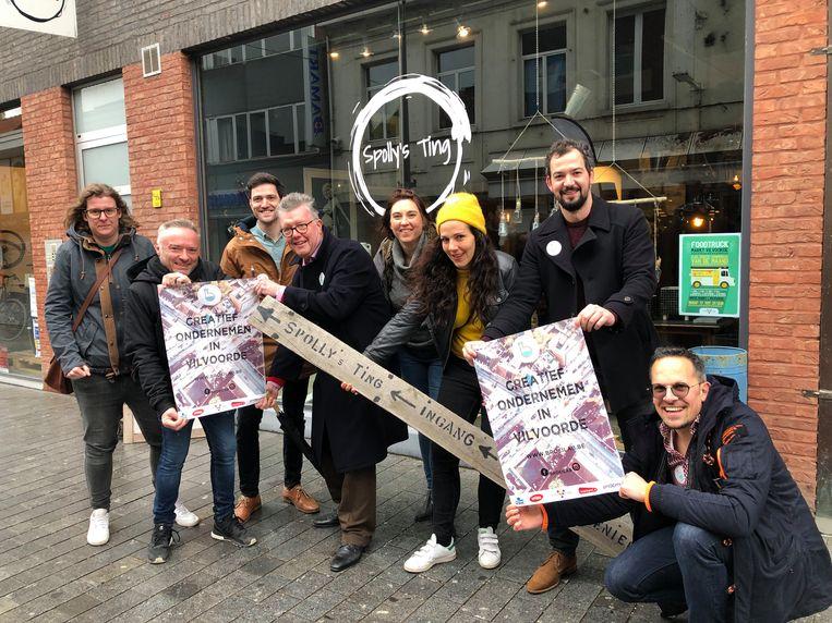 De ploeg van vzw Broelab lanceert een nieuwe wedstrijd voor bijkomende pop-ups in de Vilvoordse handelskern.