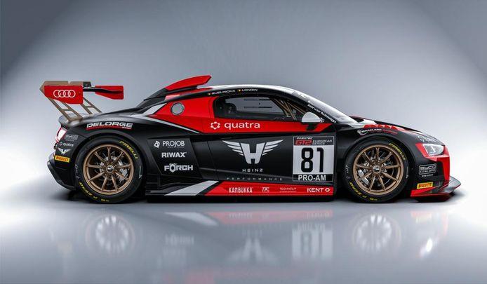 De Audi R8 van Peter Guelinckx en Bert Longin steekt voor de thuisrace in een nieuw kleedje.