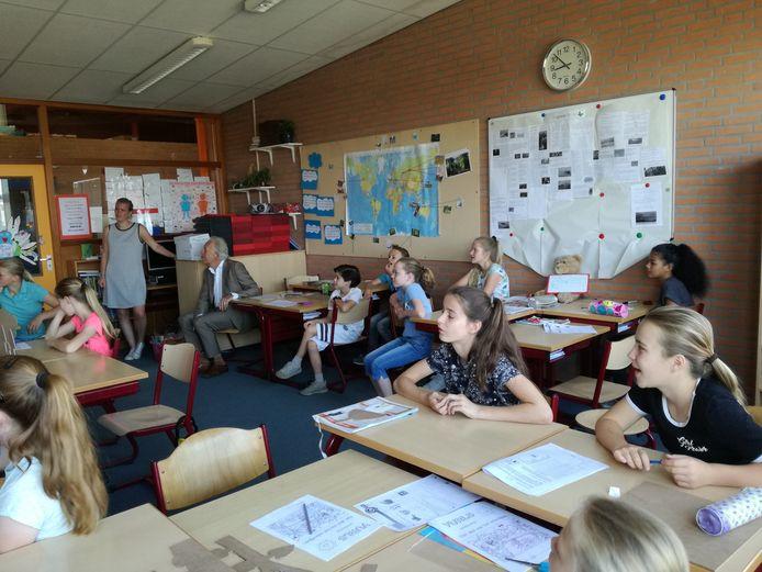 Groep 7 van basisschool De Vlinder in 2017.