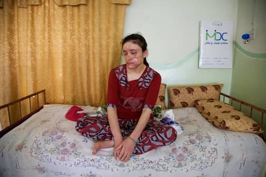 Lamiya a trouvé refuge dans la maison de son oncle à Badra, près de la frontière iranienne.