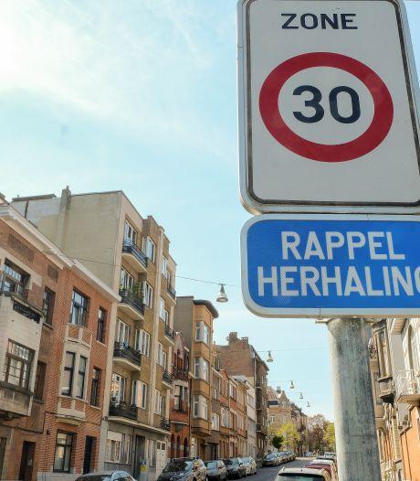 À Bruxelles, le nombre d'accidentés graves et de morts a baissé de 25% depuis la zone 30