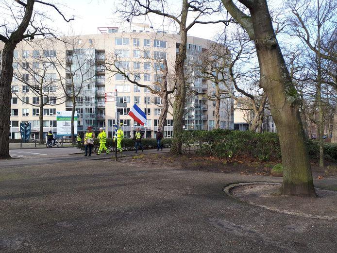 Demonstratie gele hesjes in Nijmegen