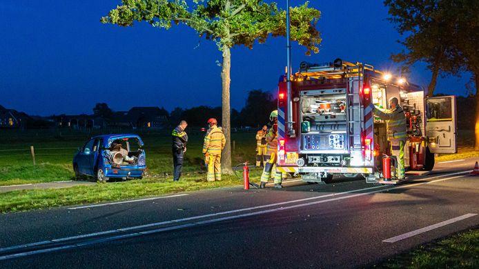 Een ernstig ongeval tussen Raalte en Wijhe.