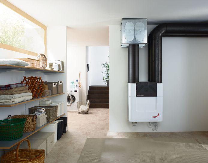 Een ventilatiesysteem D met dubbele stroom kan het risico op oververhitting tegengaan.