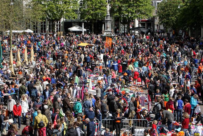 Koningsdag op de Brink in Deventer