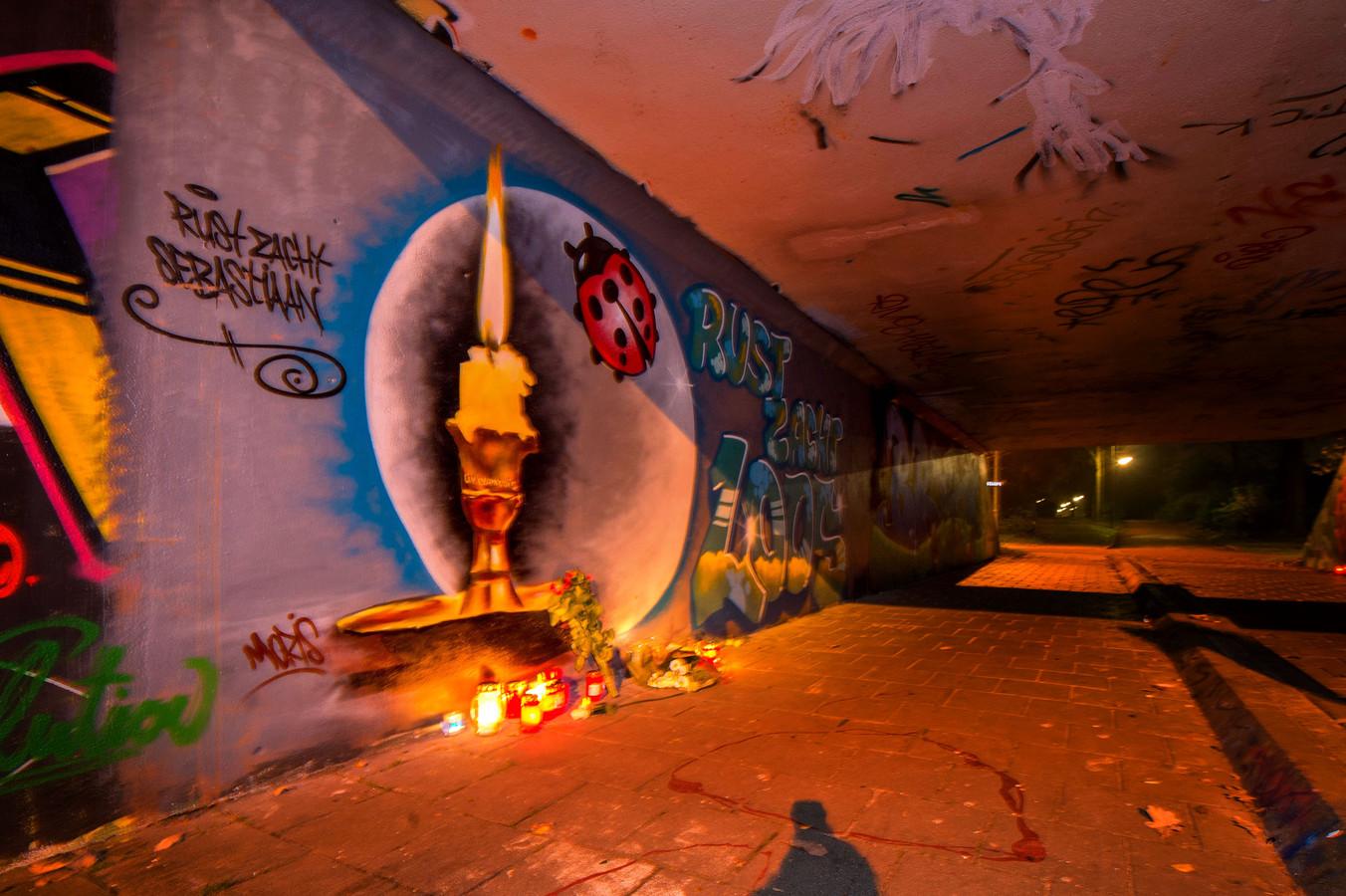 Kunstwerk ter nagedachtenis aan Sebastiaan.