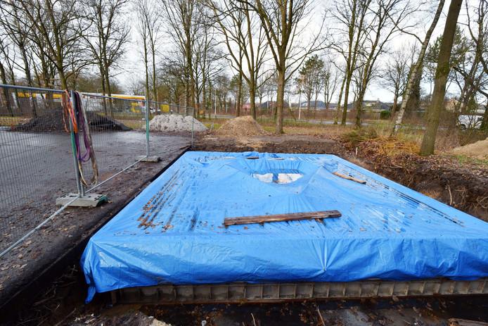 De locatie van de nieuwe zendmast in Oldenzaal