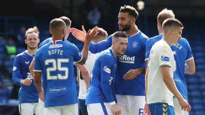 Voormalig Anderlecht-spits Kemar 'Roffe' scoort bij eerste basisplaats voor Rangers, maar krijgt foute naam op shirt