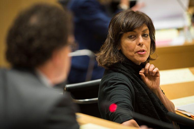 De onverzettelijke houding van Joëlle Milquet tijdens de regeringsonderhandelingen in 2007 leverde haar de bijnaam 'Madame Non' op. Beeld BELGA