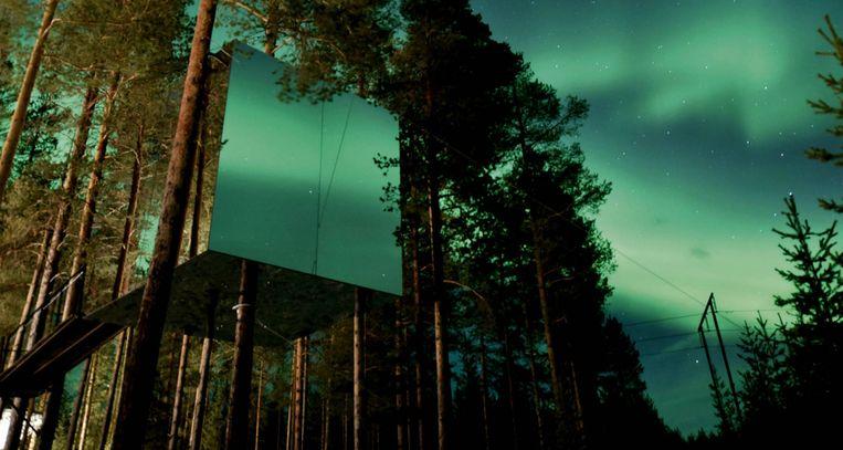 Tree Hotel in Harads, Zweden. Beeld RV