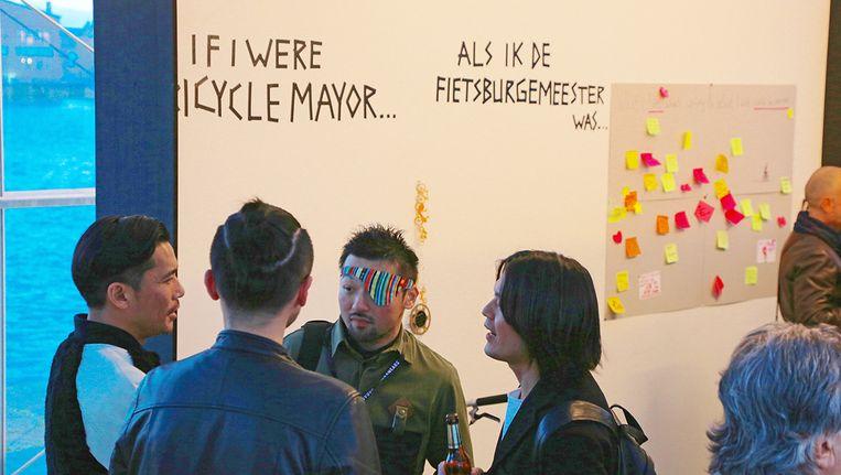 Het idee van een fietsenburgemeester werd bij een internationale bijeenkomst geïntroduceerd Beeld Roos Stallinga