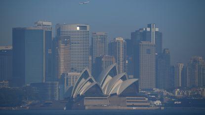 Grote brand in centrum van Sydney