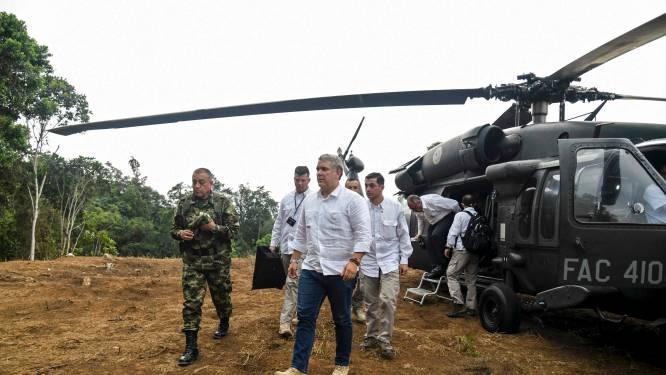 Helikopter Colombiaanse president beschoten: 650.000 euro voor gouden tip