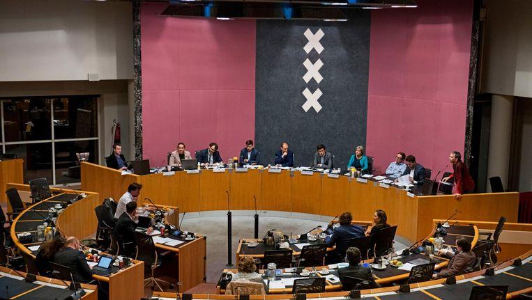 De Amsterdamse gemeenteraad Beeld anp