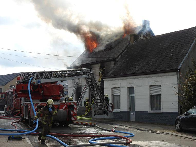 De woning van de familie De Corte brandde op 13 oktober volledig uit.