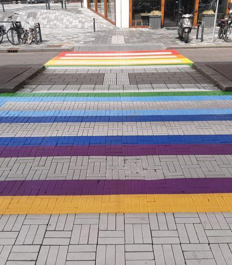 Eerste regenboogzebrapad in Nieuwegein ligt er: 'Ja, het is symbolisch'