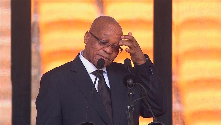 President Zuma tijdens zijn speech. Beeld REUTERS