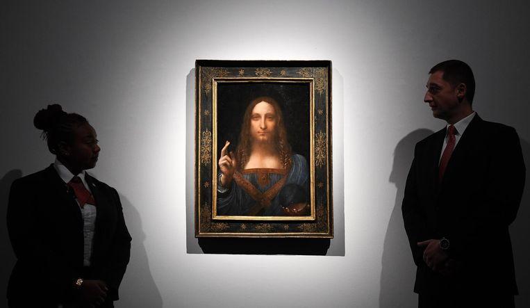 Da Vinci's 'De Verlosser van de wereld'. Beeld epa