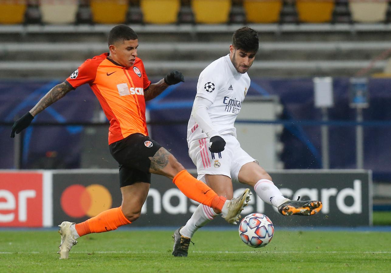 Marco Asensio a eu les deux plus belles occasions de la première période, mais ne les a pas converties. Au contraire des attaquants du Shakhtar en seconde période.