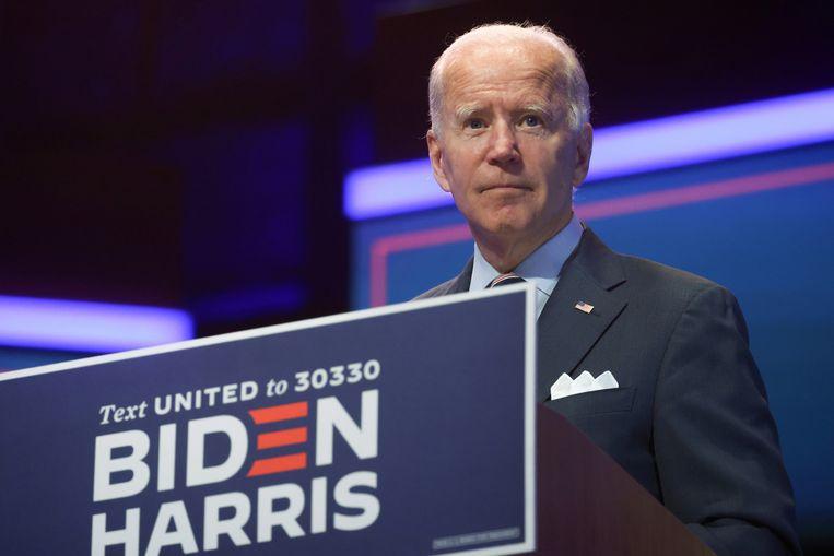 Michiel Vos over Joe Biden: 'Biden kan je favoriete oom zijn. Leuke man. misschien  te zelfverzekerd omdat hij al zo lang in de Senaat zit.dat imago is gevaarlijk.' Beeld REUTERS